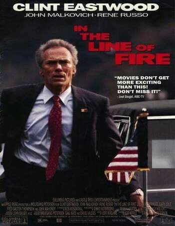 In the Line of Fire 1993 Hindi Dual Audio BRRip Full Movie 720p Free Download
