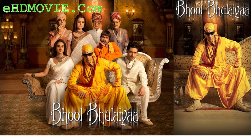 Bhool Bhulaiyaa 2007 Hindi 720p – 480p ORG Blu-Ray 550MB – 1.1GB ESubs