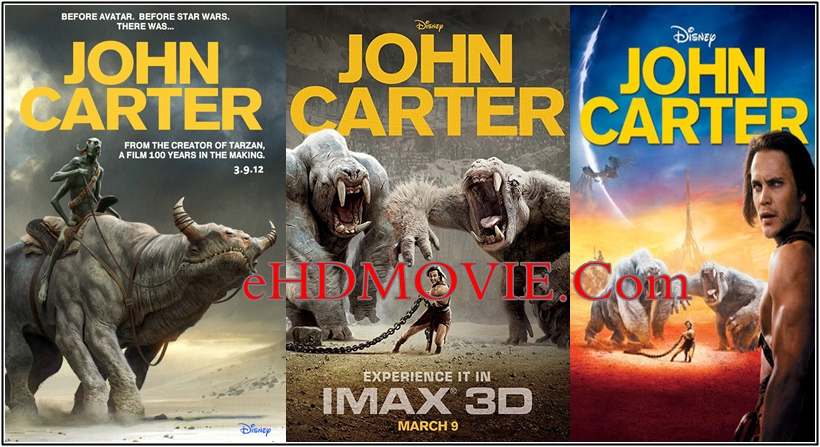 John Carter 2012 Dual Audio [Hindi – English] 720p – 480p ORG Blu-Ray 400MB – 950MB ESubs