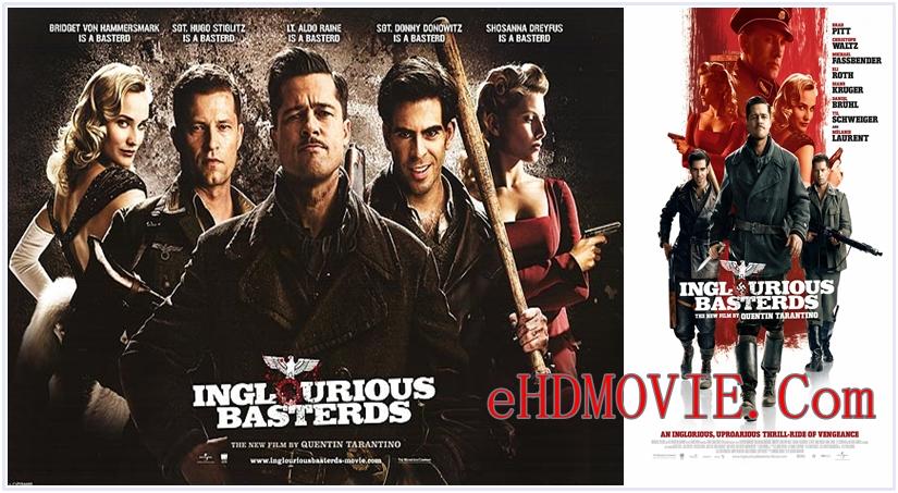 Inglourious Basterds (2009) Dual Audio [Hindi – English] 720p – HEVC – 480p ORG Blu-Ray – 500MB – 750MB – 1.7GB ESubs