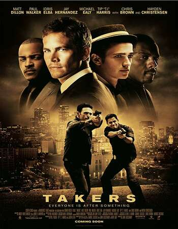 Takers 2010 Hindi Dual Audio 500MB BluRay 720p ESubs HEVC