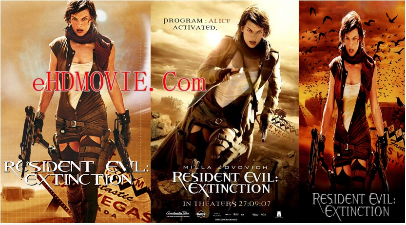 Resident Evil Extinction 2007 Dual Audio [Hindi – English] 720p – 480p ORG Blu-Ray 300MB – 1.3GB ESubs
