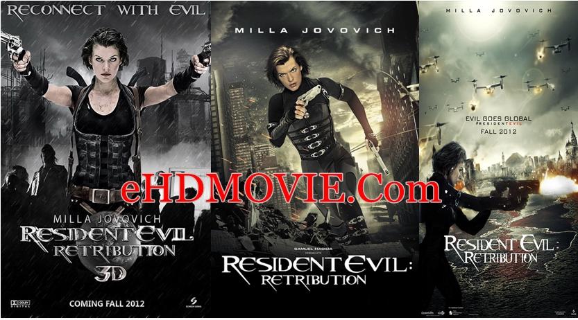 Resident Evil Retribution 2012 Dual Audio [Hindi – English] 720p – 480p ORG Blu-Ray 450MB – 900MB ESubs
