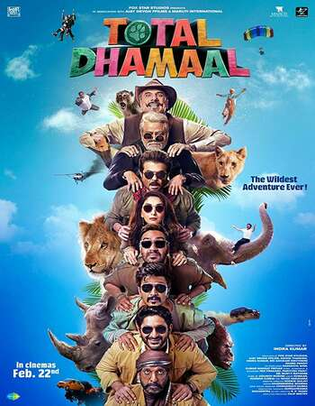 Total Dhamaal 2019 Full Hindi Movie 720p pDVDRip Free Download