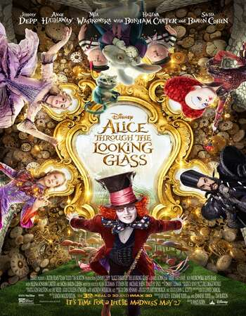 Alice Through the Looking Glass 2016 Hindi Dual Audio BRRip Full Movie 480p Download