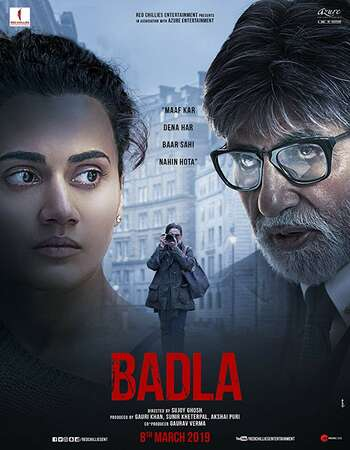 Badla 2019 Hindi 600MB HDRip 720p ESubs HEVC