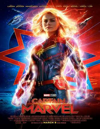 Captain Marvel 2019 Hindi Dual Audio BRRip Full Movie 720p HEVC Download