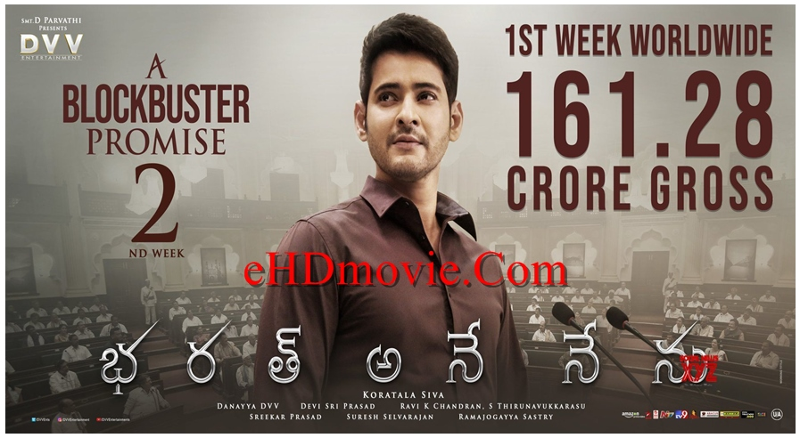 Bharat Ane Nenu 2018 Dual Audio [Hindi – Telugu] 720p – HEVC – 480p ORG Blu-Ray – 550MB – 750MB – 1.6GB ESubs