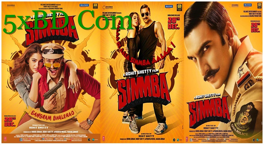 Simmba 2018 Hindi 1080p – 720p – HEVC – 480p ORG WEB-DL 450MB – 750MB – 1.4GB – 2.4GB ESubs