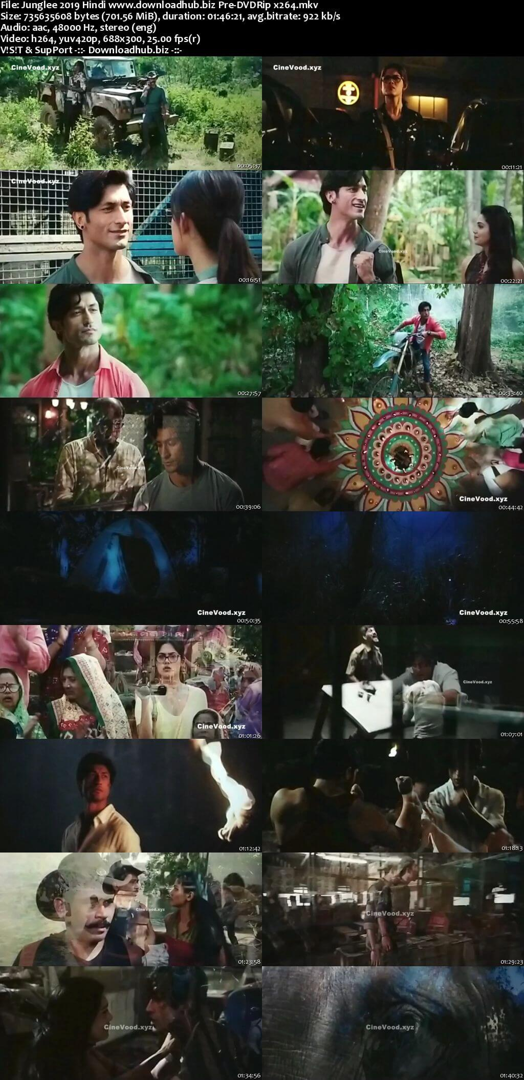 Junglee 2019 Hindi 700MB Pre-DVDRip x264