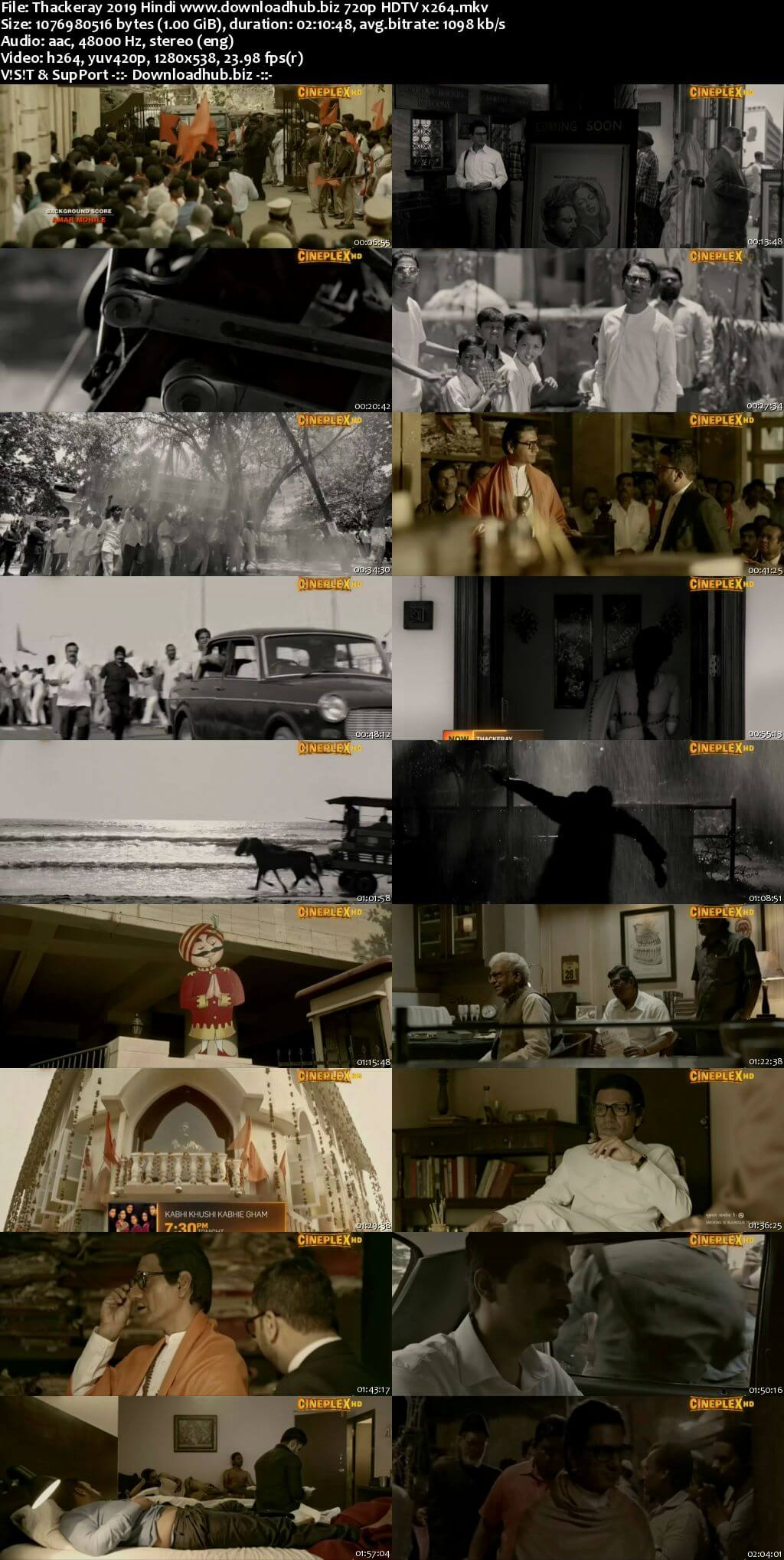 Thackeray 2019 Hindi 720p HDTV x264