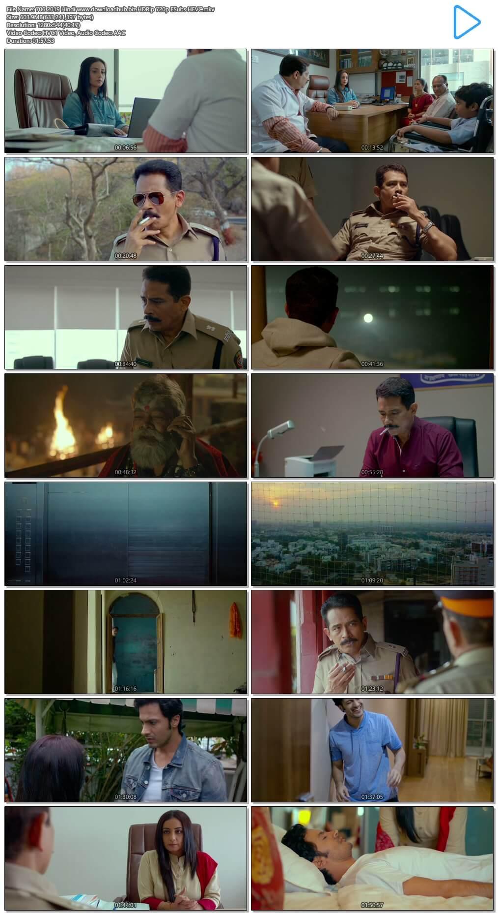 706 2019 Hindi 600MB HDRip 720p ESubs HEVC