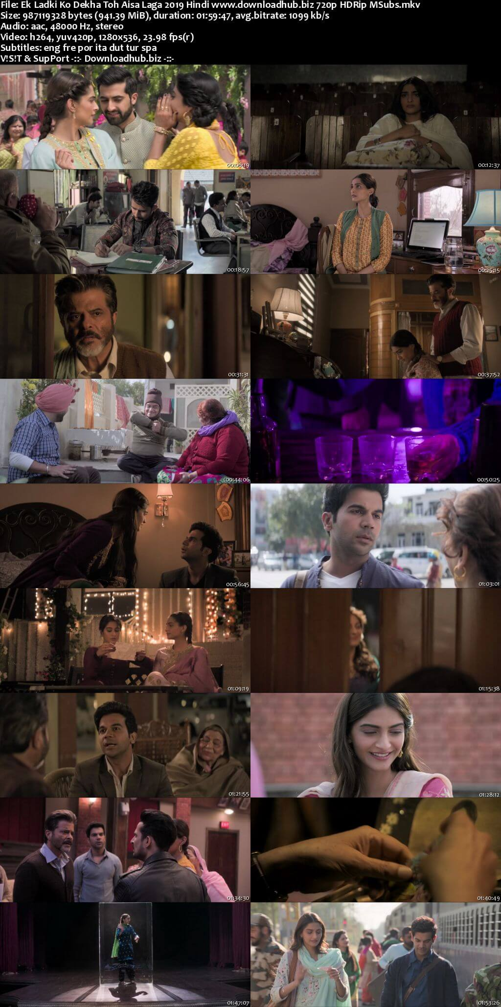 Ek Ladki Ko Dekha Toh Aisa Laga 2019 Hindi 720p HDRip MSubs