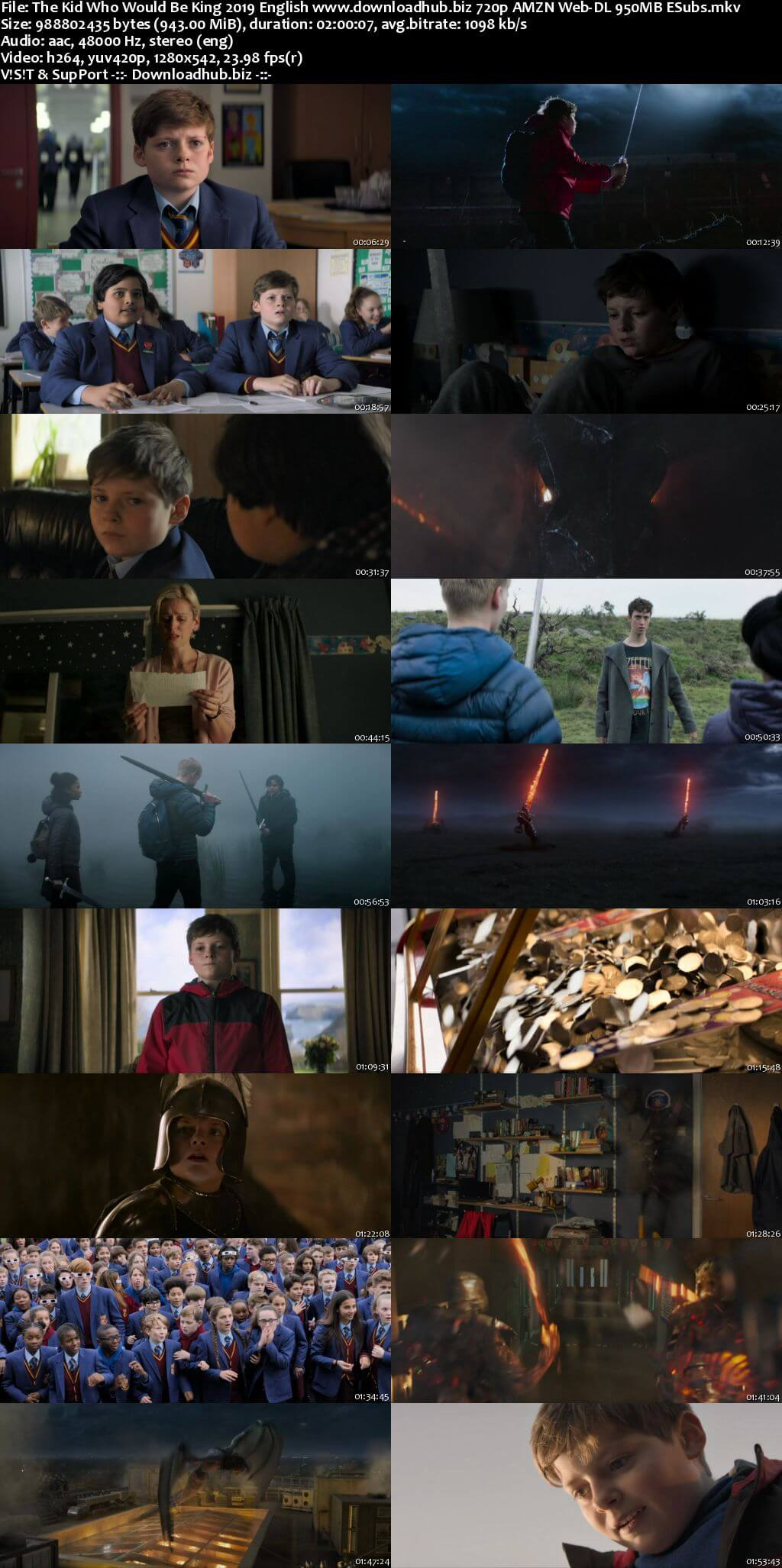 The Kid Who Would Be King 2019 English 720p AMZN Web-DL 950MB ESubs