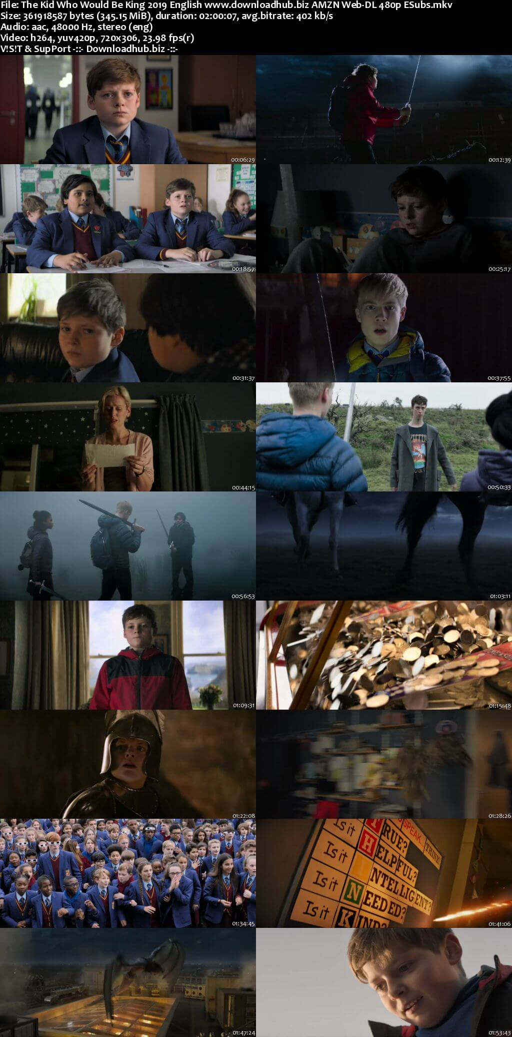 The Kid Who Would Be King 2019 English 350MB AMZN Web-DL 480p ESubs