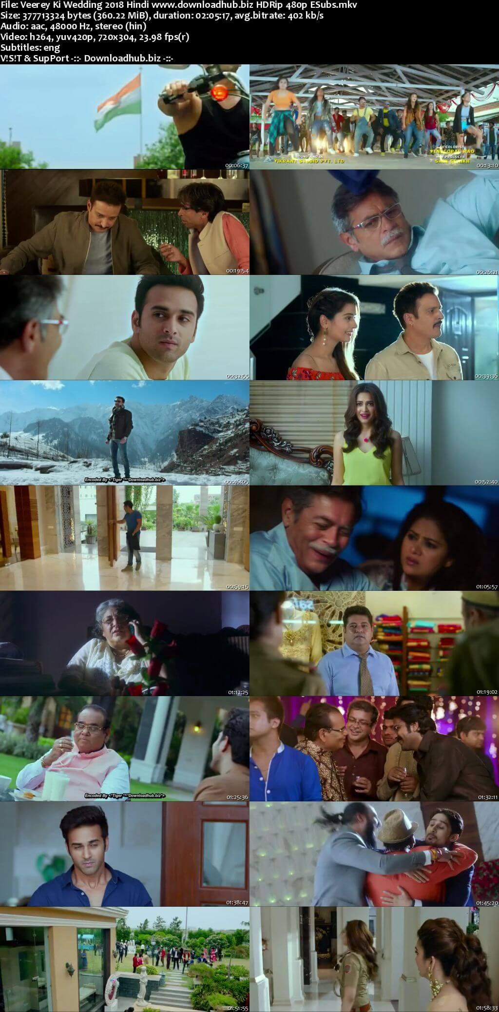 Veerey Ki Wedding 2018 Hindi 350MB HDRip 480p ESubs