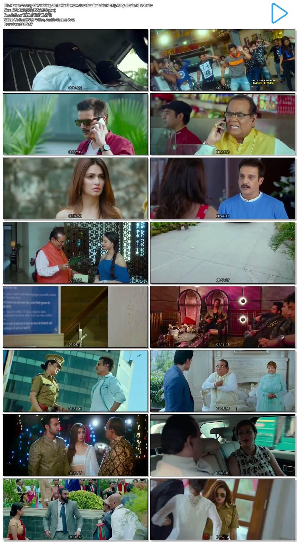 Veerey Ki Wedding 2018 Hindi 600MB HDRip 720p ESubs HEVC