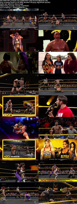 WWE NXT 3rd April 2019 200MB HDTV 480p