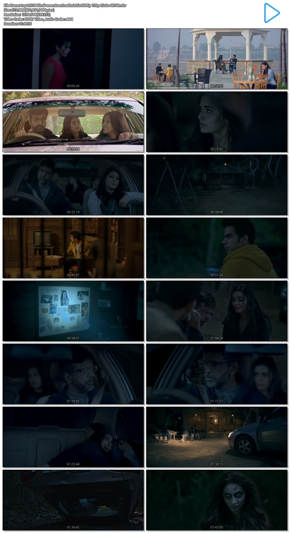 Lupt 2018 Hindi 550MB HDRip 720p ESubs HEVC