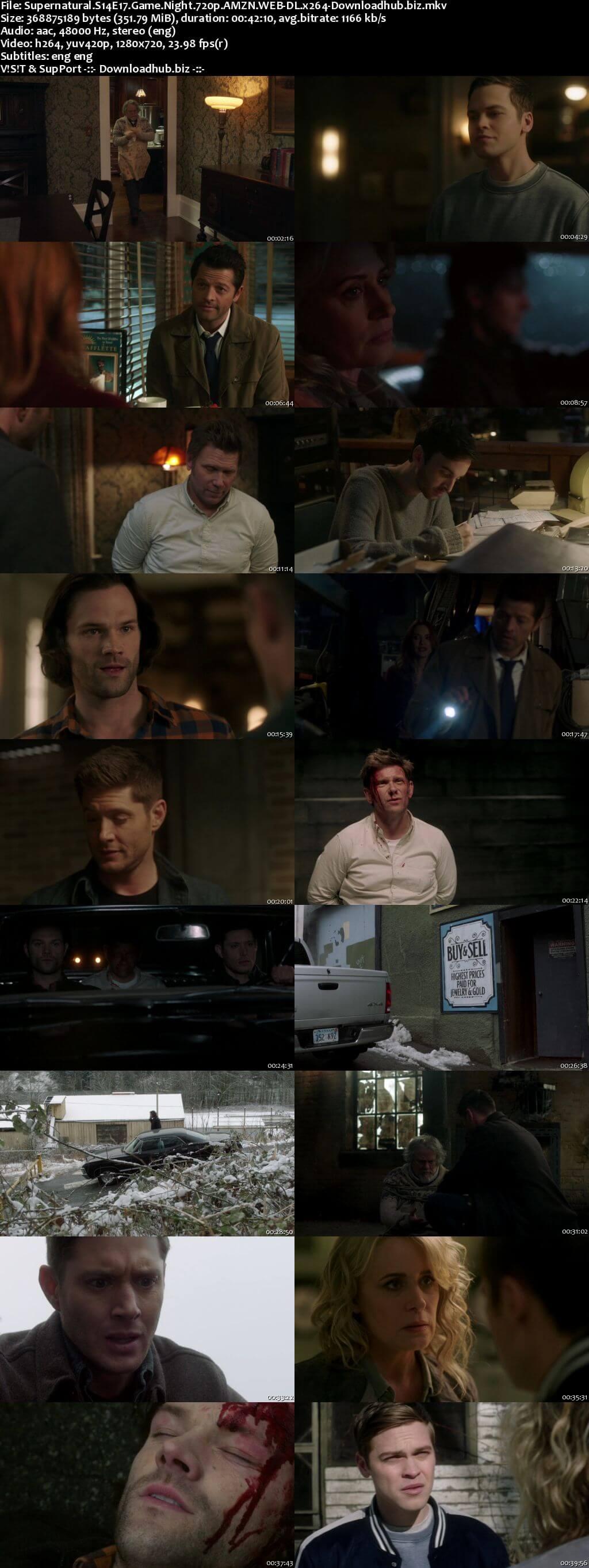 Supernatural S14E17 350MB AMZN Web-DL 720p ESubs