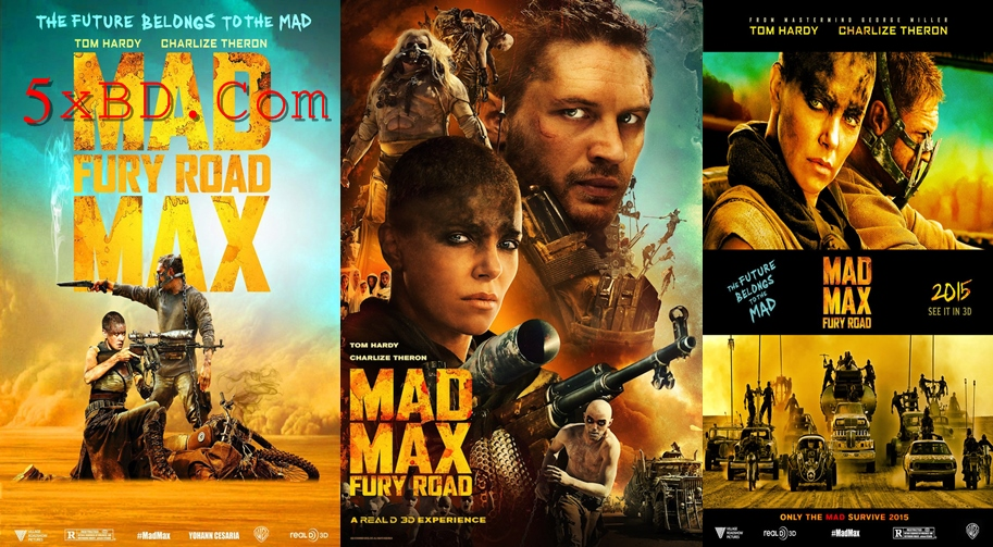 Mad Max: Fury Road 2015 Dual Audio [Hindi – English] 1080p – 720p – 480p ORG Blu-Ray 350MB – 1GB – 3GB ESubs