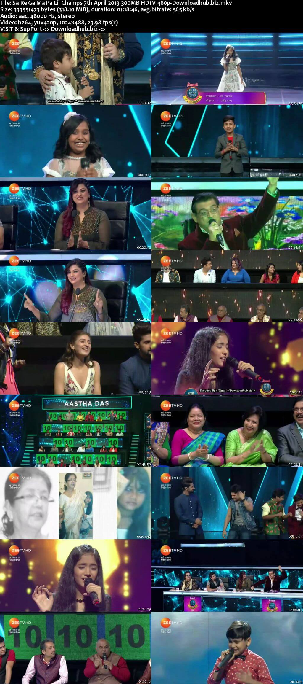 Sa Re Ga Ma Pa Lil Champs 07 April 2019 Episode 17 HDTV 480p