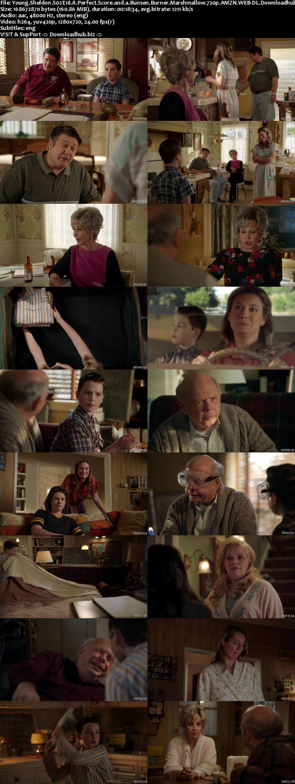 Young Sheldon S02E18 160MB AMZN WEB-DL 720p ESubs