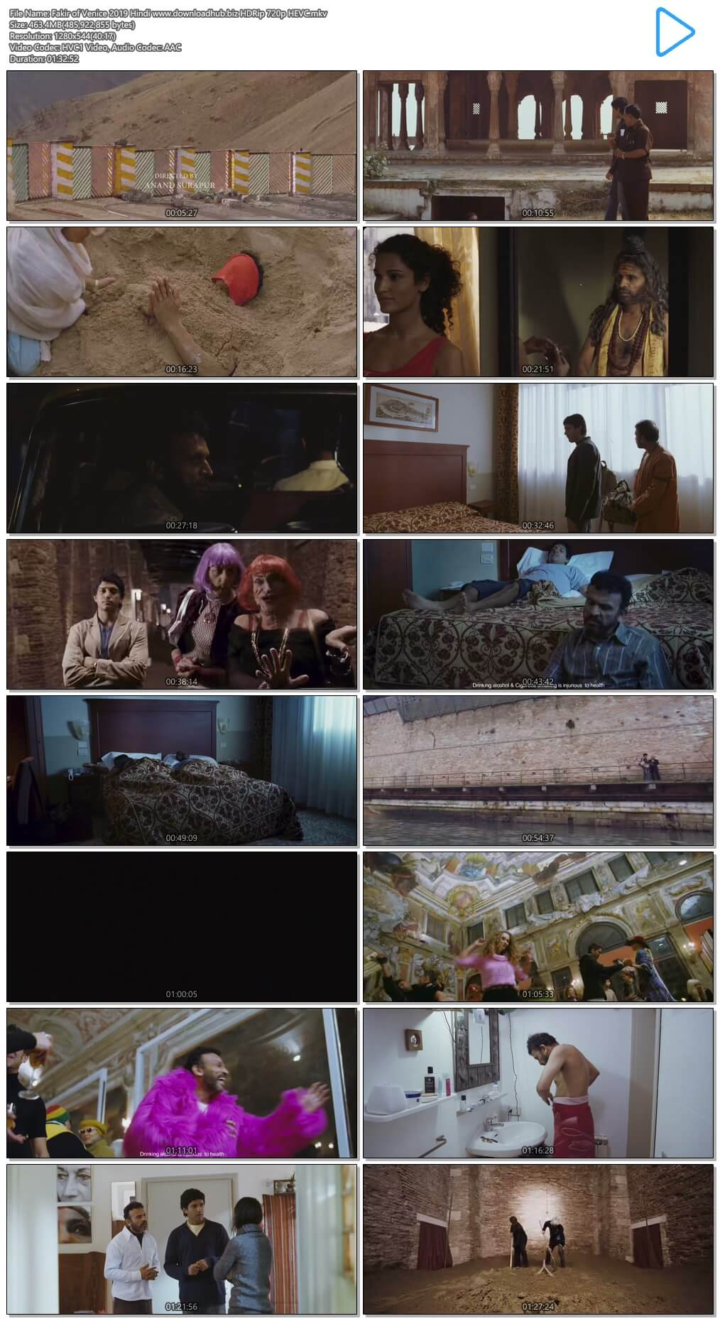 Fakir of Venice 2019 Hindi 450MB HDRip 720p HEVC