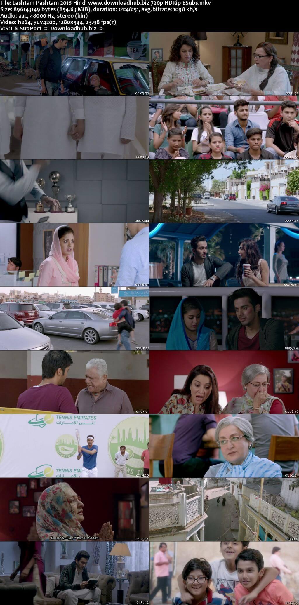 Lashtam Pashtam 2018 Hindi 720p HDRip ESubs