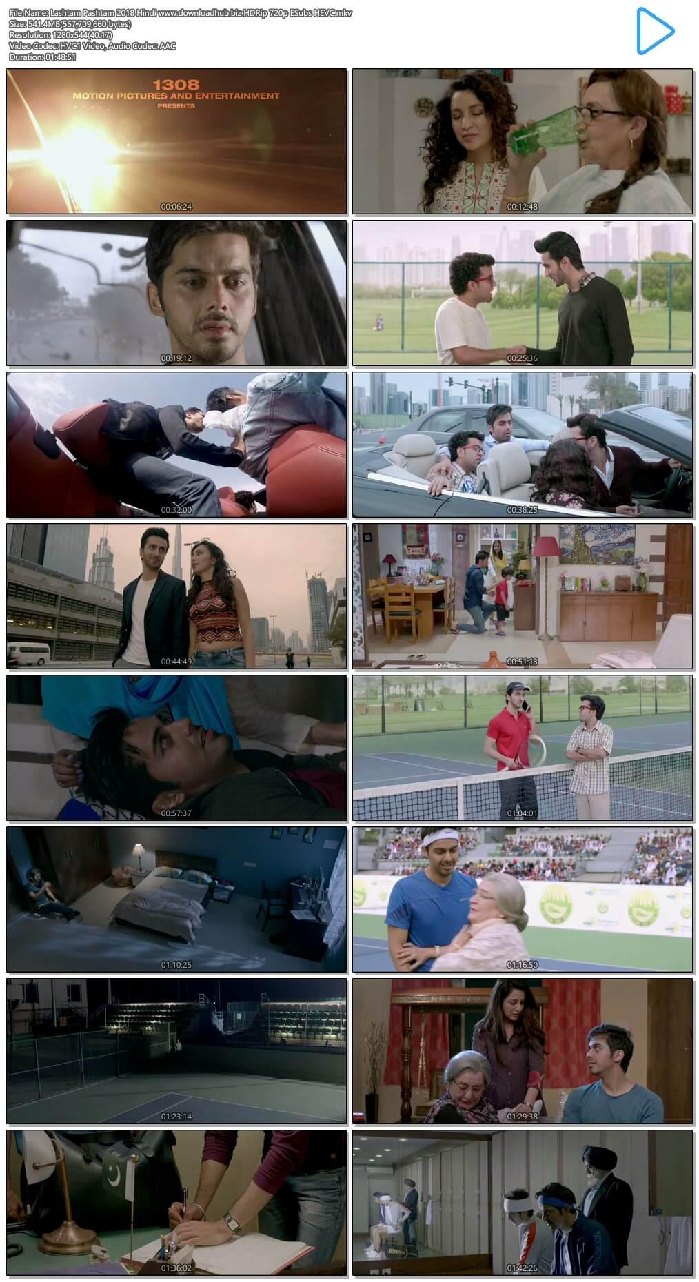 Lashtam Pashtam 2018 Hindi 500MB HDRip 720p ESubs HEVC