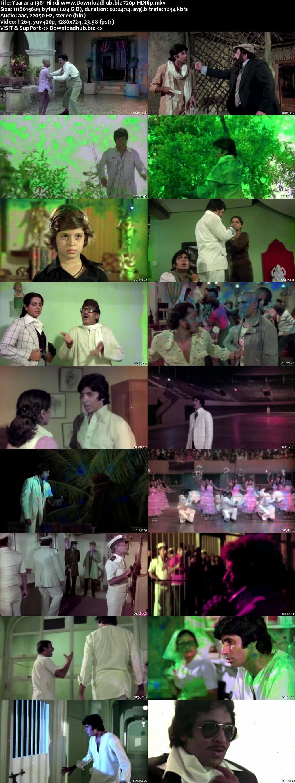 Yaarana 1981 Hindi 720p HDRip x264