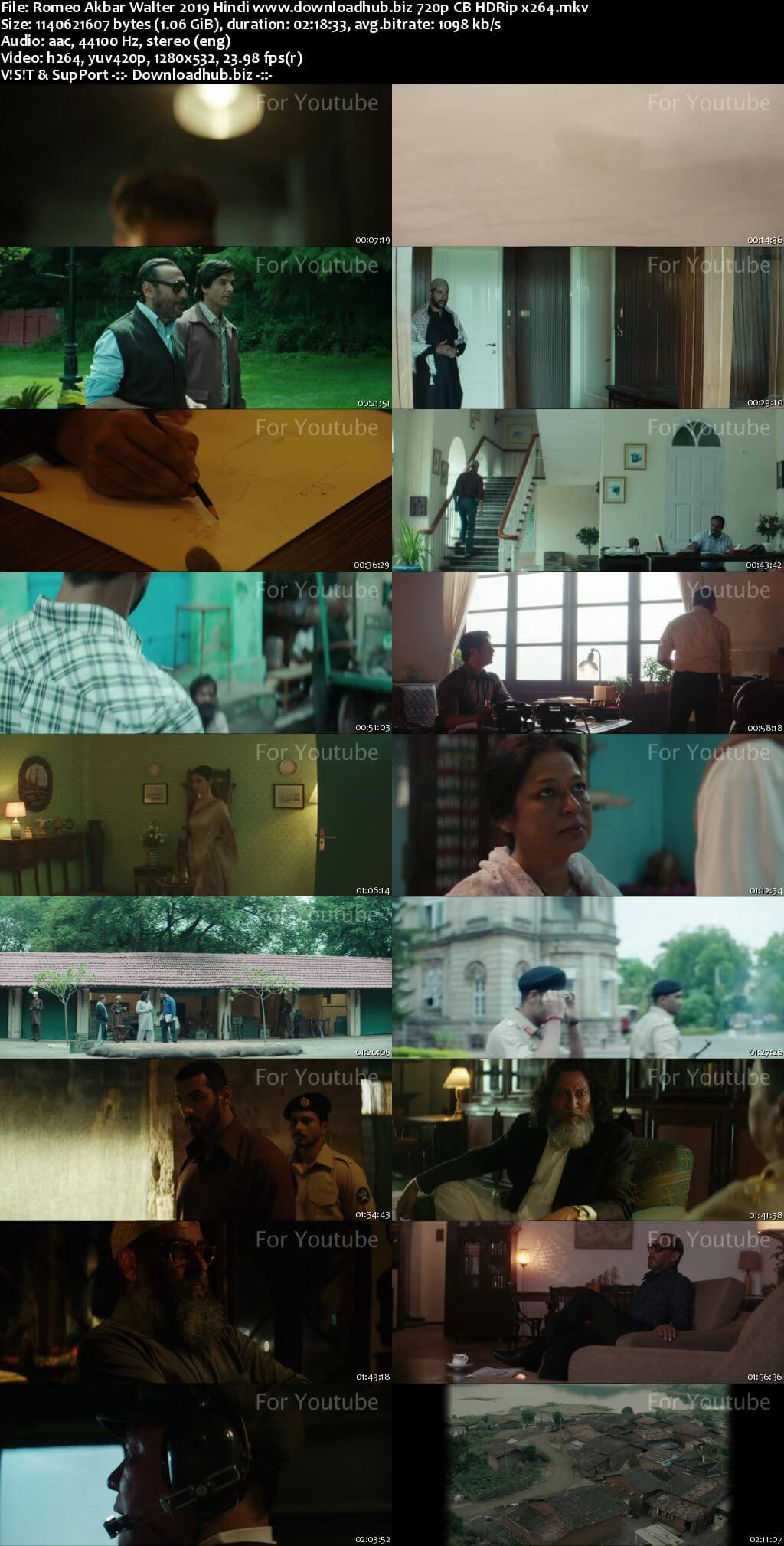 Romeo Akbar Walter 2019 Hindi 720p CB HDRip x264