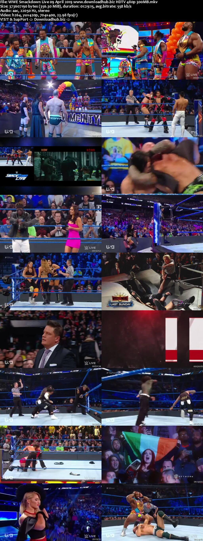 WWE Smackdown Live 9th April 2019 300MB HDTV 480p