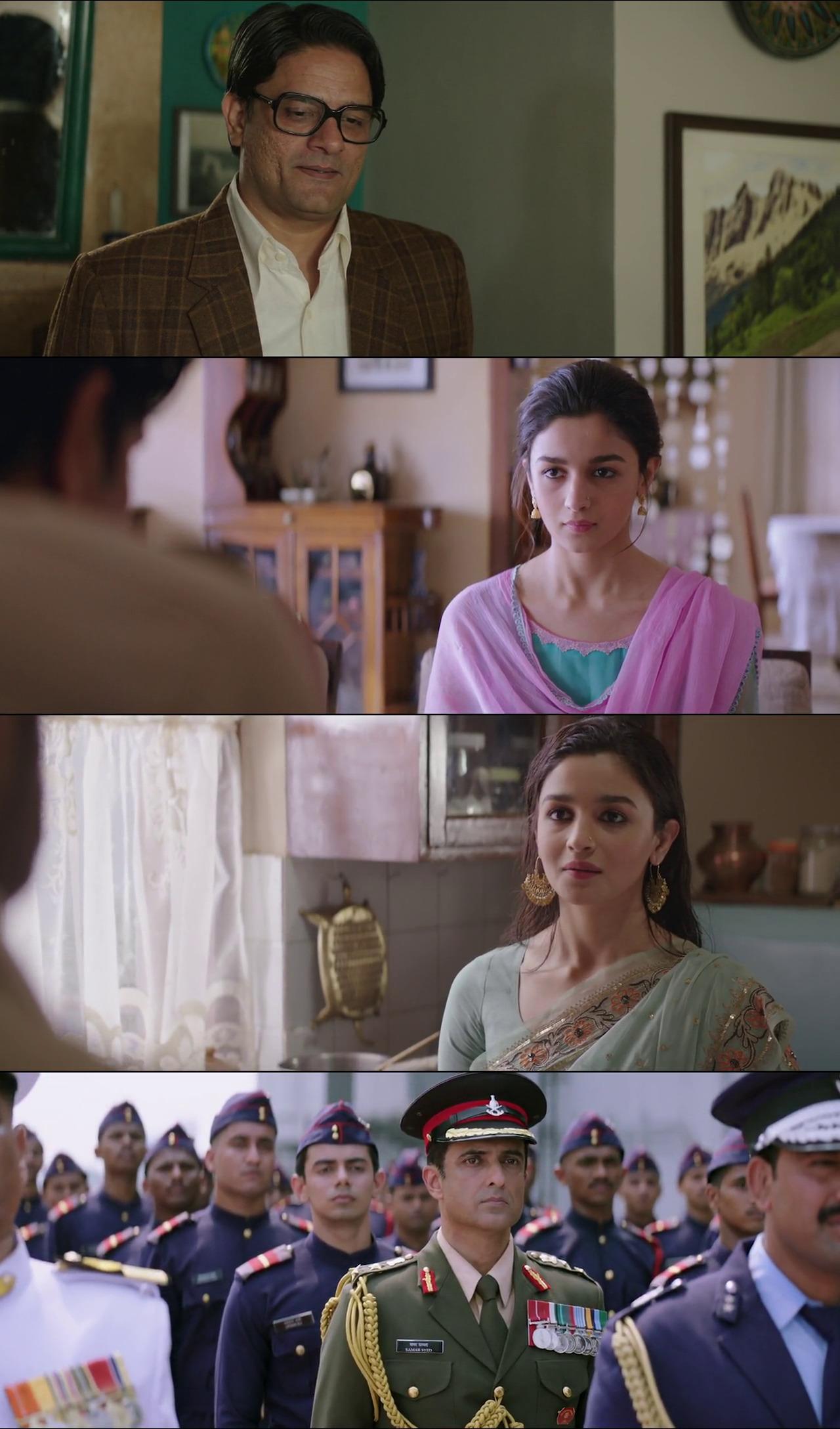 Screen Shoot of Raazi 2018 720p Hindi BluRay Full Movie Download HD