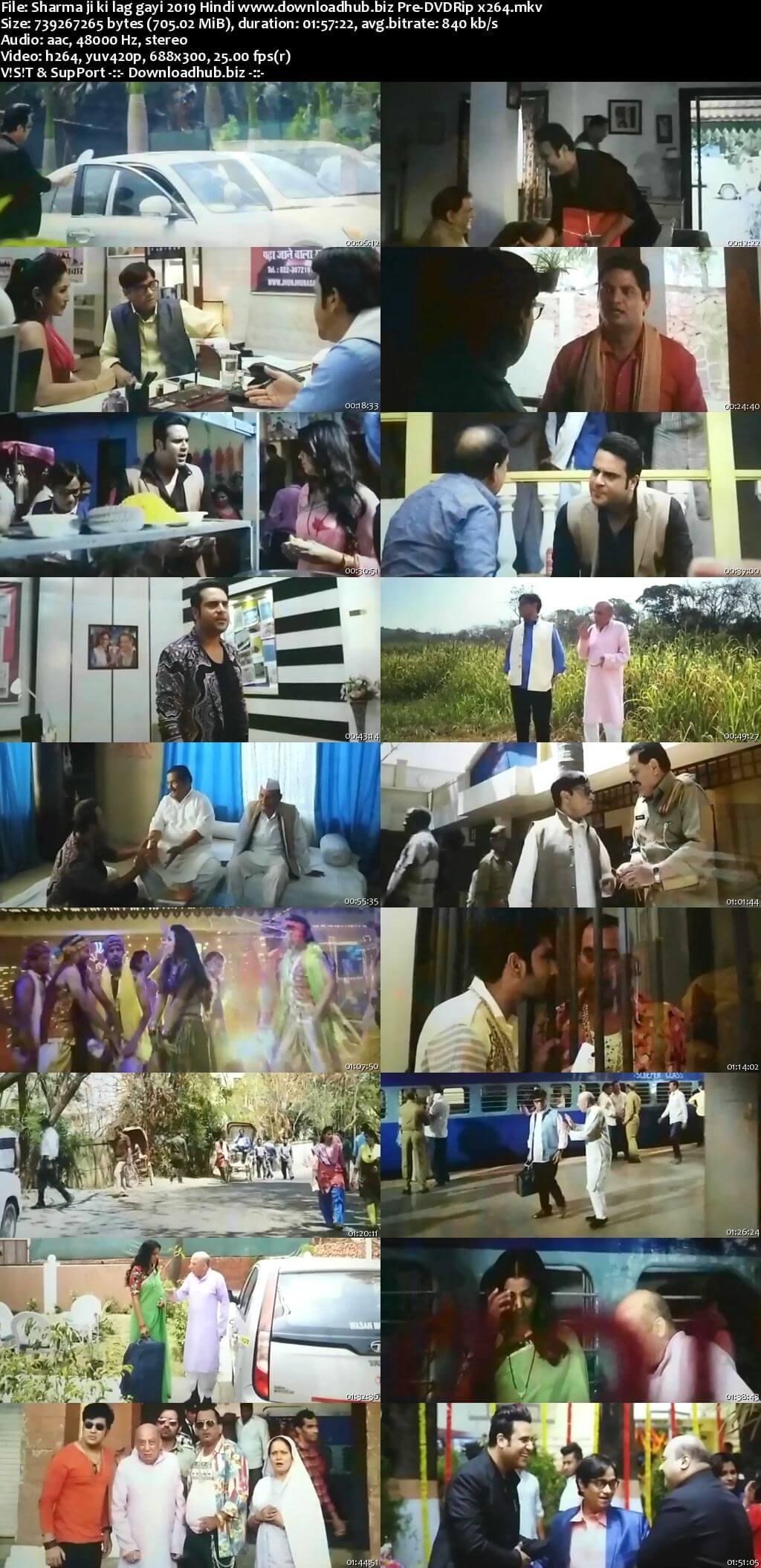 Sharma ji ki lag gayi 2019 Hindi 700MB Pre-DVDRip x264
