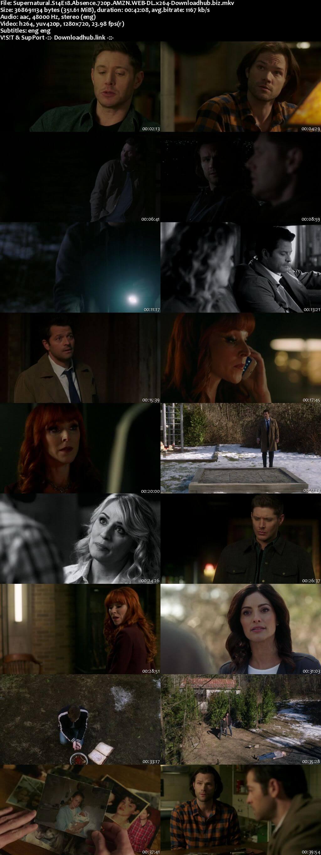 Supernatural S14E18 350MB AMZN Web-DL 720p ESubs