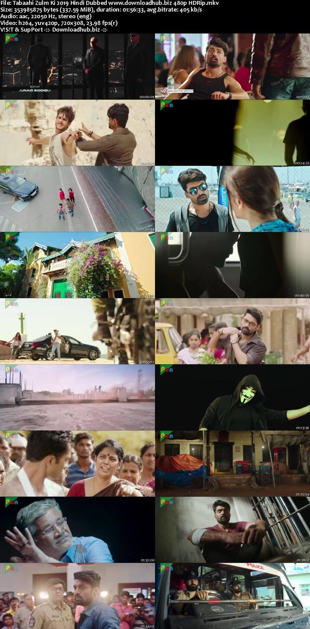 Tabaahi Zulm Ki 2019 Hindi Dubbed 300MB HDRip 480p