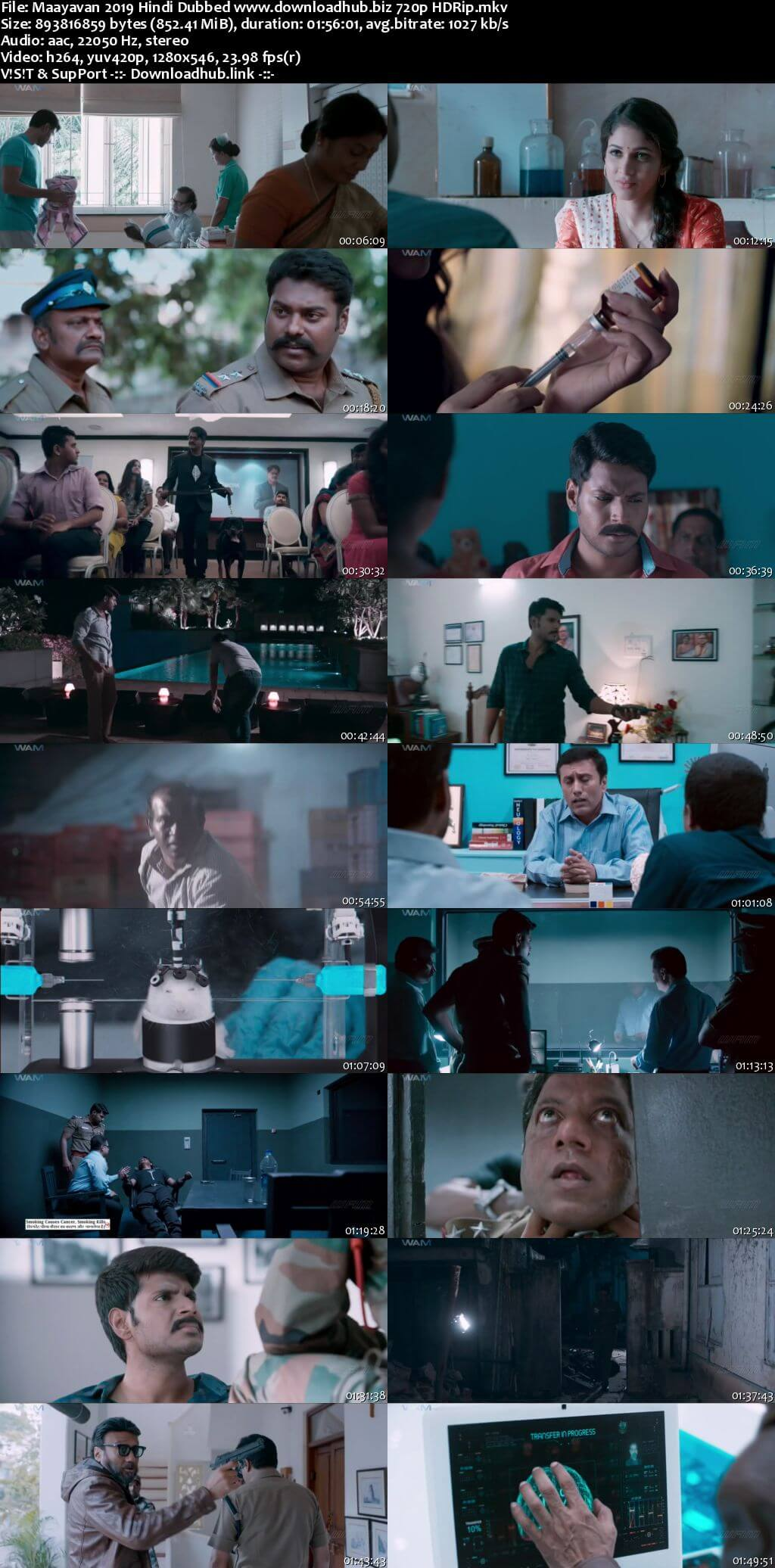 Maayavan 2019 Hindi Dubbed 720p HDRip x264