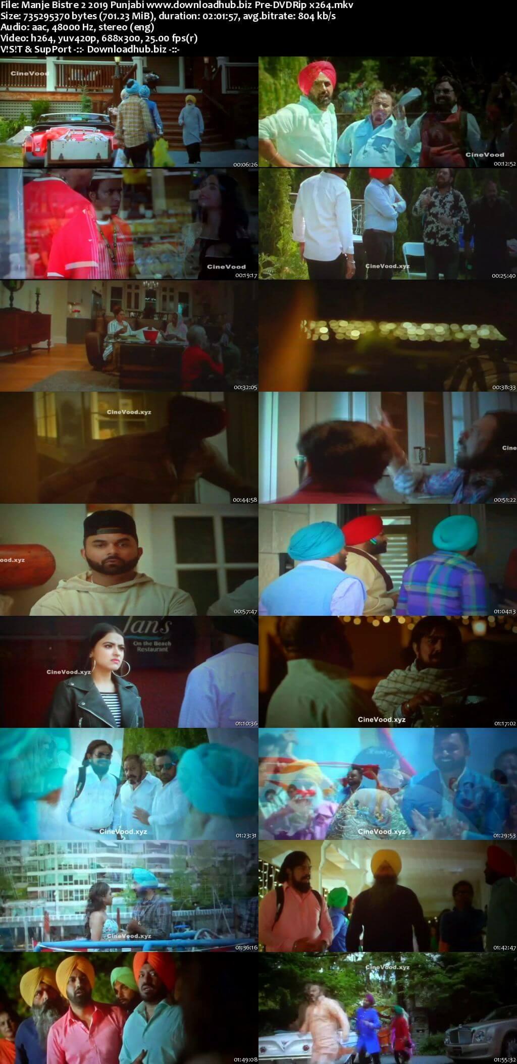 Manje Bistre 2 2019 Punjabi 700MB Pre-DVDRip x264