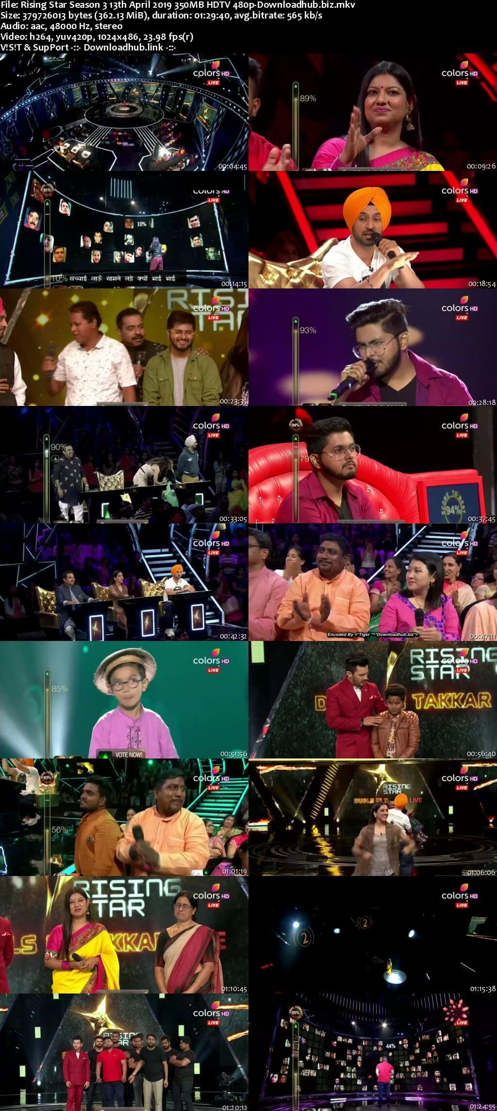 Rising Star Season 3 13 April 2019 Episode 09 HDTV 480p