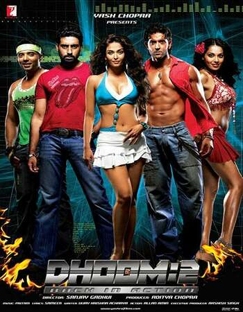 Dhoom 2 2006 Hindi 700MB BluRay 720p ESubs HEVC