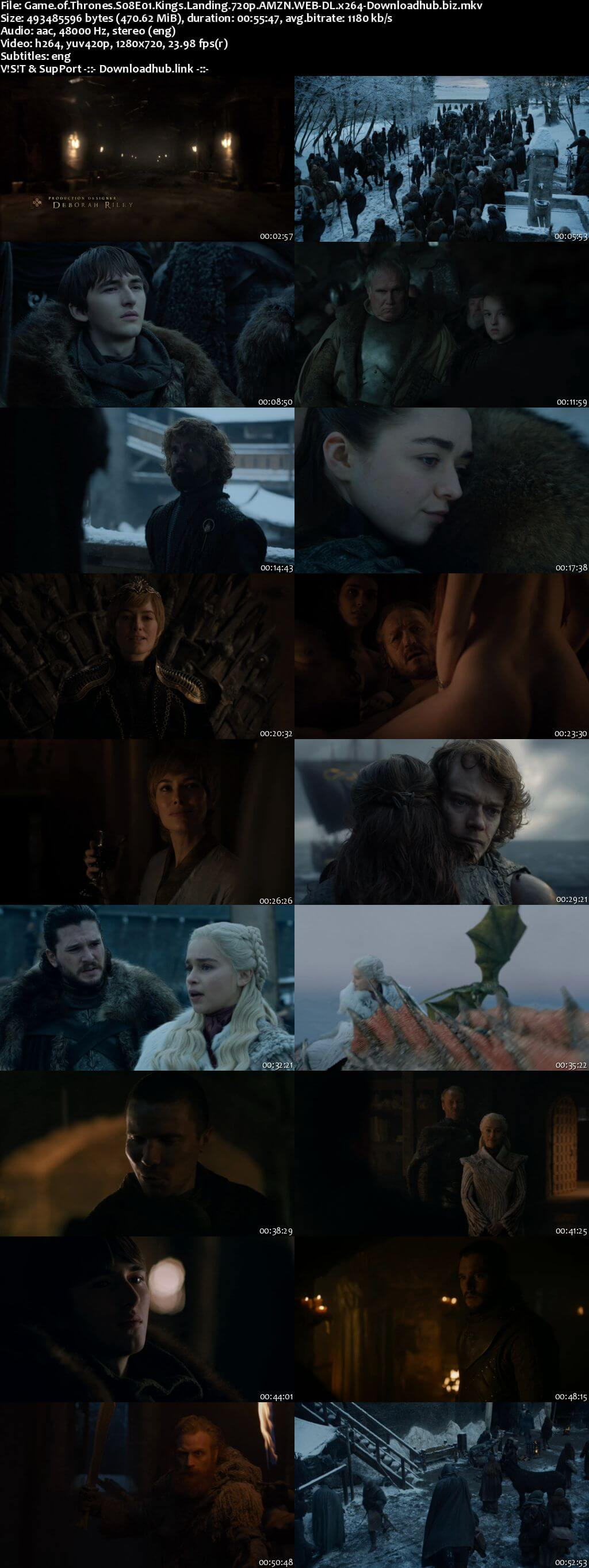 Game of Thrones S08E01 450MB AMZN WEB-DL 720p ESubs