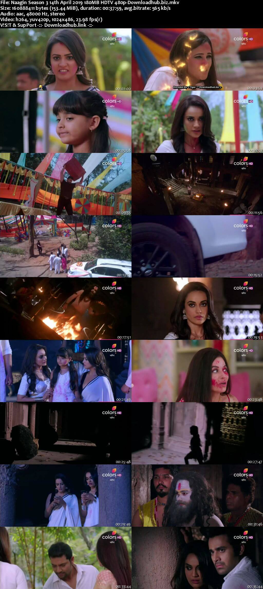 Naagin Season 3 14 April 2019 Episode 89 HDTV 480p