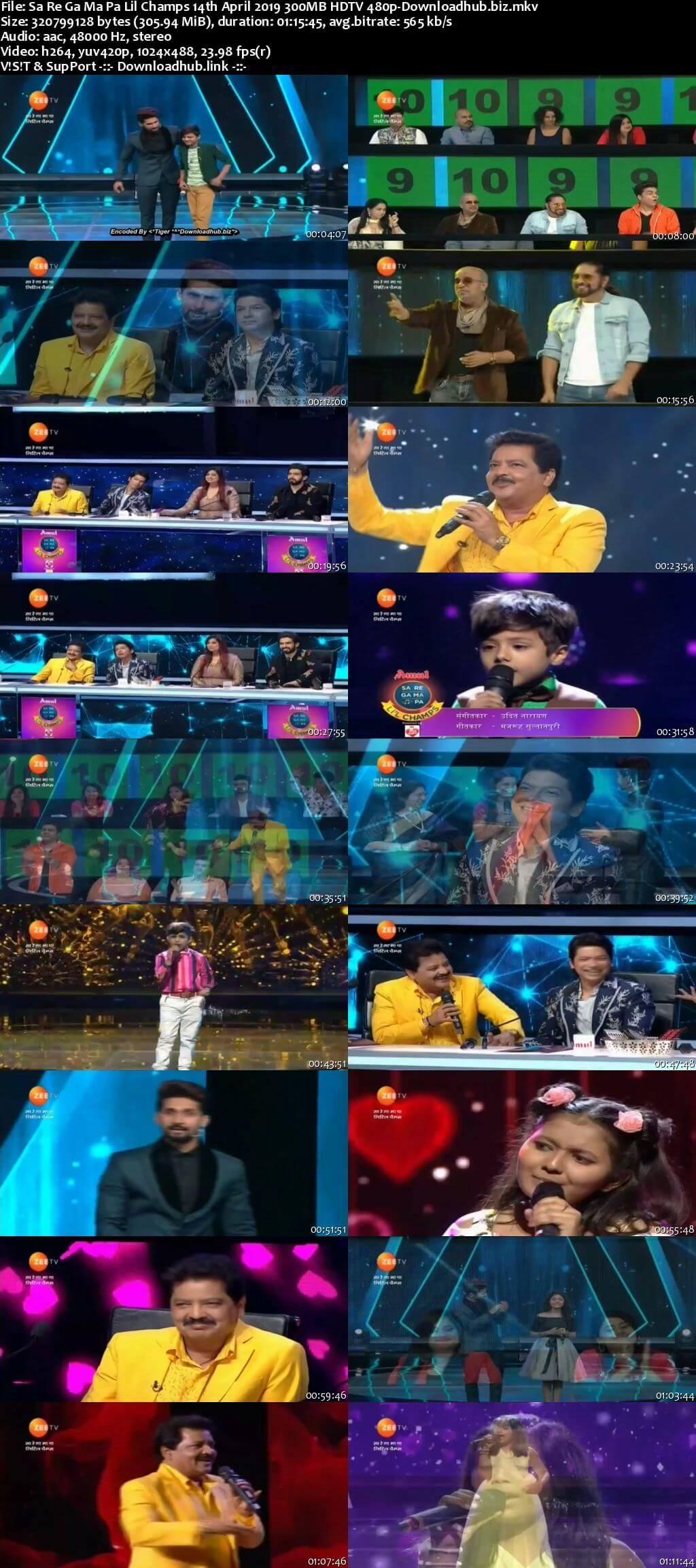 Sa Re Ga Ma Pa Lil Champs 14 April 2019 Episode 19 HDTV 480p