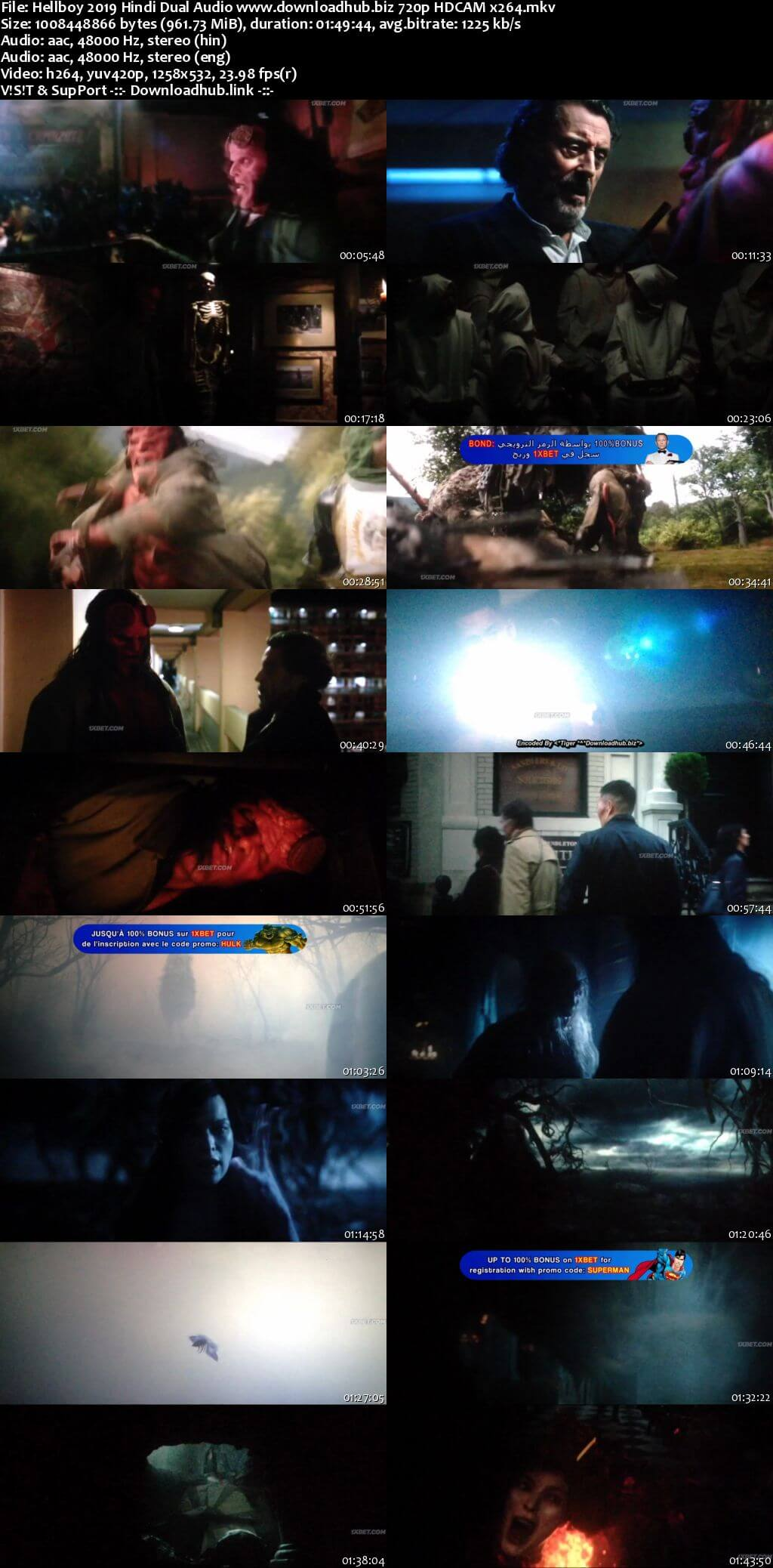 Hellboy 2019 Hindi Dual Audio 720p HDCAM x264