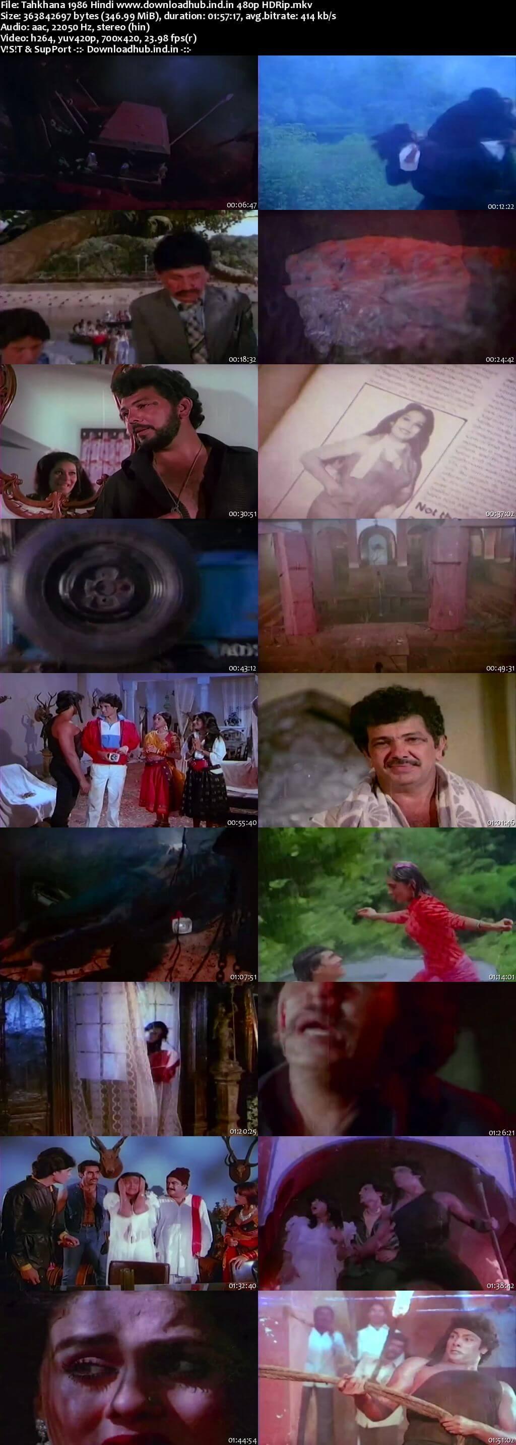 Tahkhana 1986 Hindi 300MB HDRip 480p