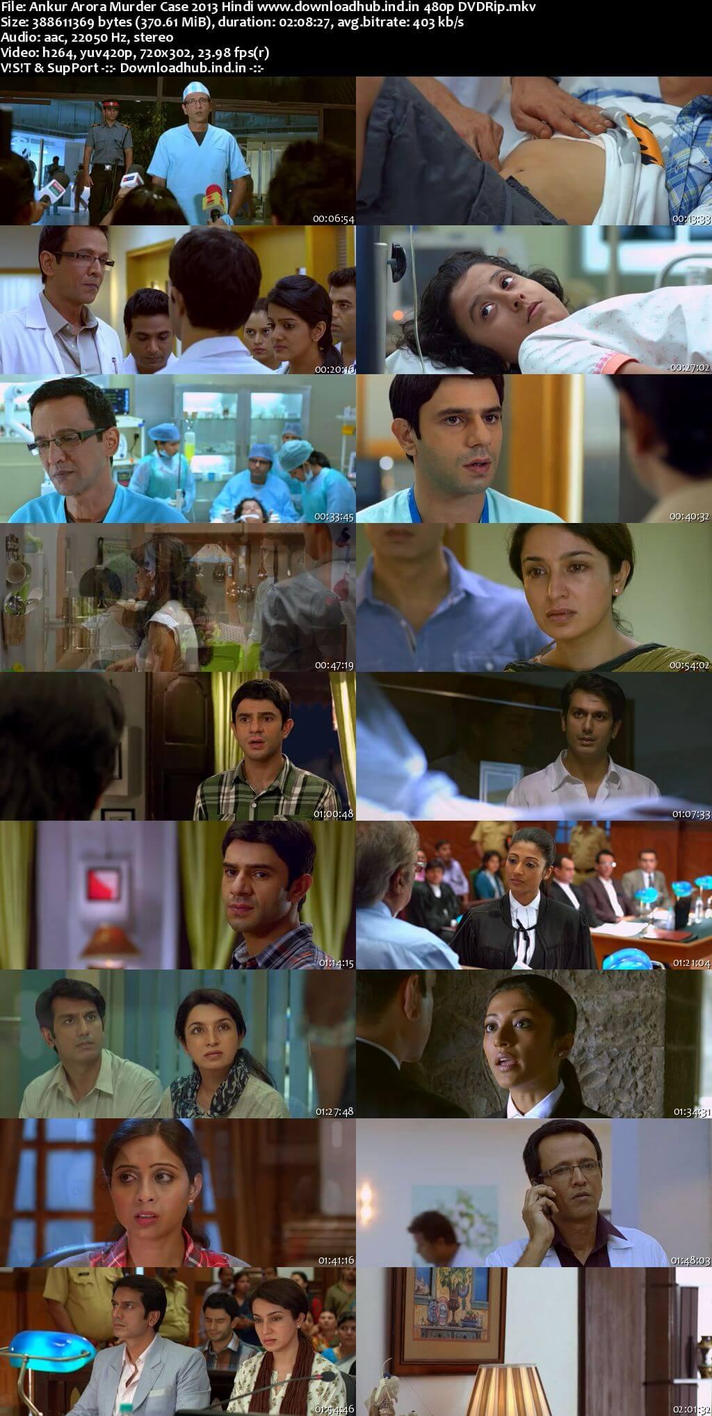 Ankur Arora Murder Case 2013 Hindi 350MB DVDRip 480p ESubs