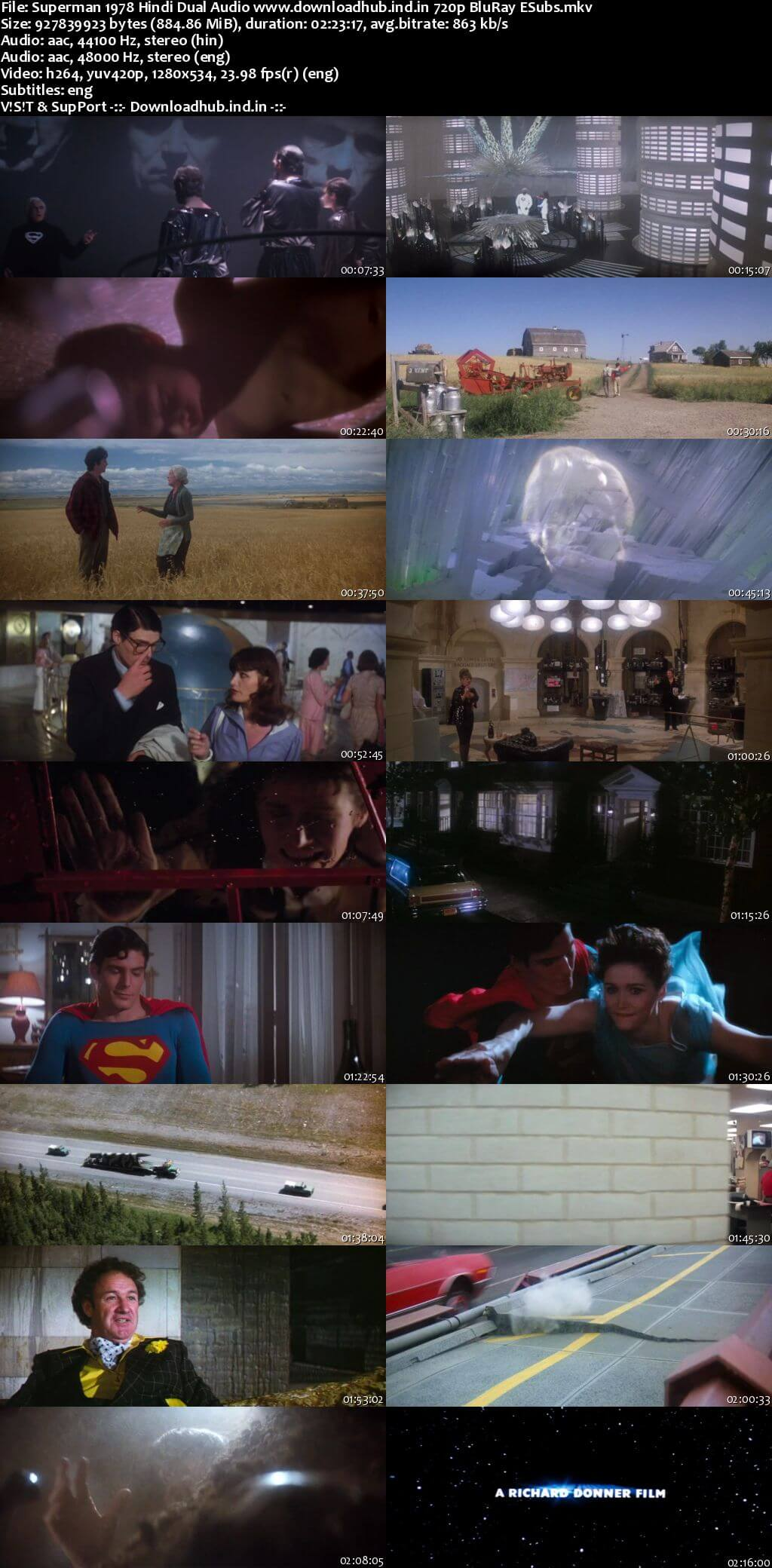 Superman 1978 Hindi Dual Audio 720p BluRay ESubs