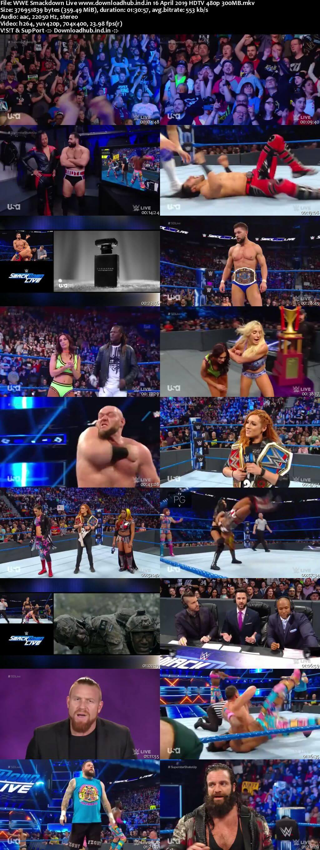 WWE Smackdown Live 16th April 2019 300MB HDTV 480p
