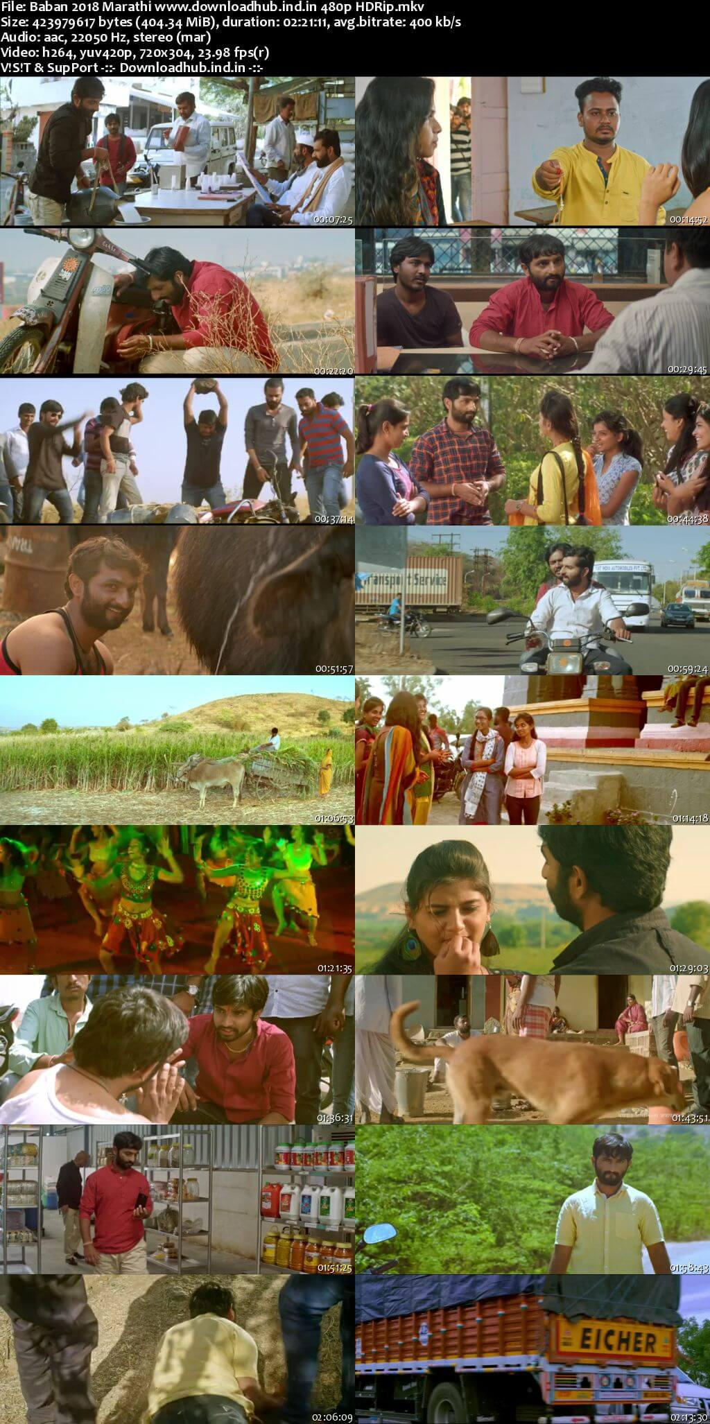 Baban 2018 Marathi 400MB HDRip 480p